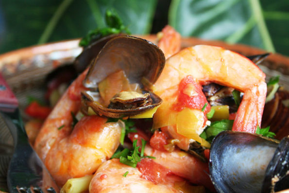 Seafood stew (shrimp and mussels)