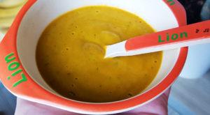 Piure morcov, fenicul, mazare 2