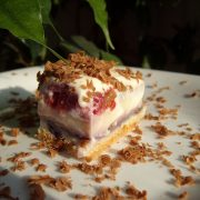 Prajitura cu crema de vanilie si zmeura