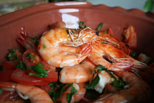 Oven Roasted Shrimps with vegetables